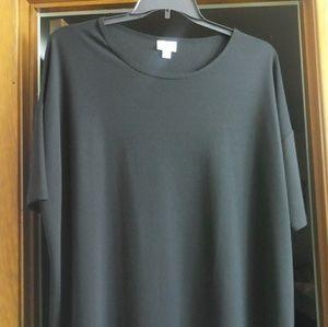 LuLaRoe **Solid Black** Irma Tunic XL